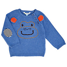Buy John Lewis Baby Monkey Jumper, Blue Online at johnlewis.com