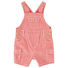 Buy John Lewis Baby Stripe Dungarees, Red Online at johnlewis.com