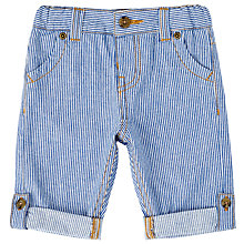 Buy John Lewis Baby Roll-Up Stripe Trousers, Blue Online at johnlewis.com