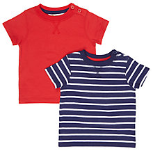 Buy John Lewis Baby Nautical T-Shirt, Pack of 2, Red/Blue Online at johnlewis.com
