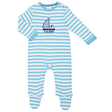 Buy John Lewis Baby Dog in a Boat Sleepsuit, Blue/White Online at johnlewis.com