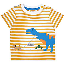 Buy John Lewis Baby Dinosaur Walkies T-Shirt, Yellow Online at johnlewis.com