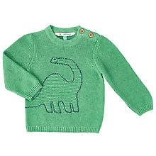 Buy John Lewis Baby Dinosaur Jumper, Green Online at johnlewis.com