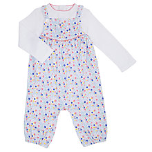 Buy John Lewis Baby Floral Dungaree Set, Multi Online at johnlewis.com