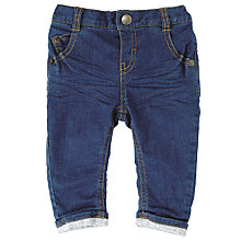 Buy John Lewis Baby Stretch Denim Jeans, Blue Online at johnlewis.com