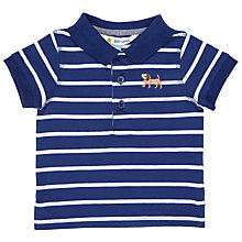 Buy John Lewis Baby Polo Shirt, Navy/White Online at johnlewis.com
