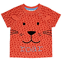 Buy John Lewis Baby Lion Roar T-Shirt, Red Online at johnlewis.com