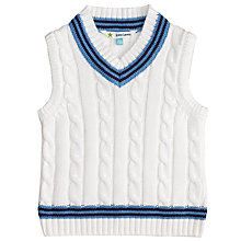 Buy John Lewis Baby Cricket Tank Top, Cream Online at johnlewis.com