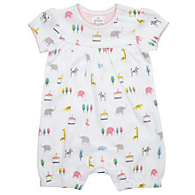 Buy John Lewis Baby Animal Short Romper Playsuit, Multi Online at johnlewis.com