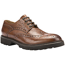 Buy Geox Igor Leather Brogue Shoes, Cognac Online at johnlewis.com