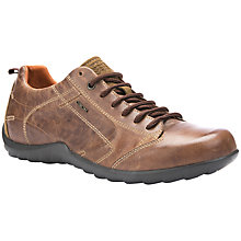 Buy Geox Pavel Leather Trainers, Cognac Online at johnlewis.com