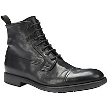 Buy Geox Jaylon Leather Lace Up Boots, Black Online at johnlewis.com