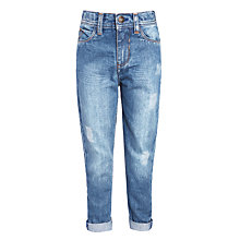 Buy John Lewis Boys' Straight Leg Light Wash Jeans, Blue Online at johnlewis.com