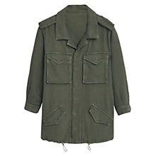 Buy Mango Military-Style Jacket, Beige Khaki Online at johnlewis.com