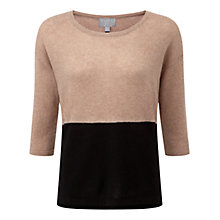 Buy Pure Collection Yarborough Cashmere Jumper, Sesame/Black Online at johnlewis.com