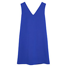 Buy Mango V-Neck Dress, Bright Blue Online at johnlewis.com