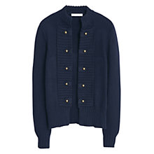 Buy Mango Cotton Blend Cardigan, Navy Online at johnlewis.com