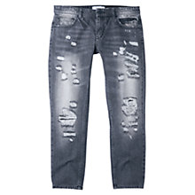 Buy Mango Cropped Relaxed Jeans Online at johnlewis.com