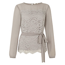 Buy Kaliko Chiffon Sleeve Lace Blouse Online at johnlewis.com