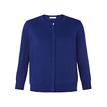 Buy Kaliko Grosgrain Trim Cardigan, Cobalt Online at johnlewis.com