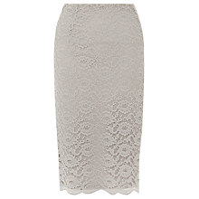 Buy Kaliko Lace Pencil Skirt, Light Grey Online at johnlewis.com