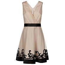 Buy Kaliko Mesh Applique Prom Dress, Neutral/Black Online at johnlewis.com