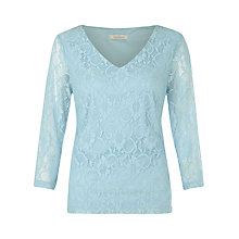 Buy Kaliko Floral Lace Top, Light Blue Online at johnlewis.com