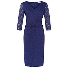Buy Kaliko Ruched Lace Dress, Cobalt Online at johnlewis.com
