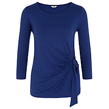 Buy Kaliko Side Tie Jersey Top, Cobalt Online at johnlewis.com