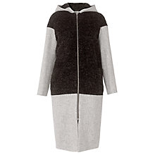 Buy Whistles Anna Panel Boucle Coat, Grey Marl Online at johnlewis.com