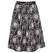Buy True Decadence Floral Midi Skirt, Black Online at johnlewis.com