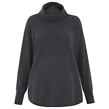 Buy Whistles Cashmere Ribbed Cowl Neck Jumper Online at johnlewis.com