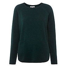 Buy Whistles Cashmere Ribbed Sleeve Boxy Jumper Online at johnlewis.com