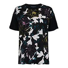 Buy French Connection Botanical Trip T-Shirt, Black Multi Online at johnlewis.com