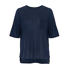 Buy French Connection Polly Plains Zip Detail Top, Nocturnal Online at johnlewis.com
