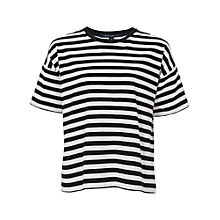 Buy French Connection Carnaby Stripe T-Shirt, Black / Winter White Online at johnlewis.com