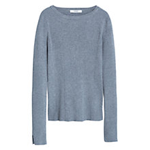 Buy Mango Ribbed Jumper, Medium Grey Online at johnlewis.com