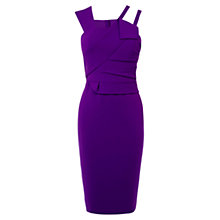 Buy Karen Millen Modern Folded Dress, Purple Online at johnlewis.com