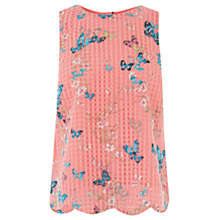 Buy Oasis Butterfly Print Shell Top, Multi Orange Online at johnlewis.com