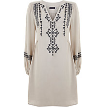 Buy Mint Velvet Embroidered Folk Dress, Cream Online at johnlewis.com