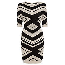 Buy Karen Millen Chevron Stripe Knitted Dress Online at johnlewis.com