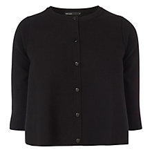 Buy Karen Millen Circle Knit Cardigan KX035, Black Online at johnlewis.com