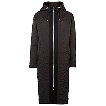 Buy Whistles Quilted Cocoon Parka, Black Online at johnlewis.com