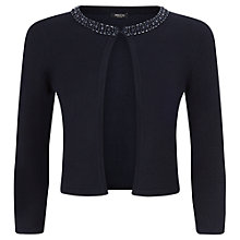 Buy Precis Petite Beaded Cardigan, Navy Online at johnlewis.com