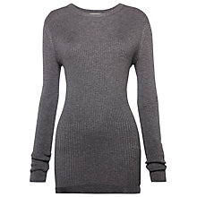 Buy Whistles Split Seams Detail Knit, Grey Online at johnlewis.com