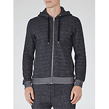 Buy Reiss Garrison Flecked Hoodie, Blue Online at johnlewis.com