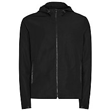 Buy Reiss Zinadine Technical Hooded Jacket, Black Online at johnlewis.com