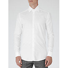 Buy Reiss Raheem Houndstooth Shirt, White Online at johnlewis.com