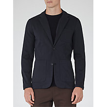 Buy Reiss Danger Jersey Blazer, Navy Online at johnlewis.com