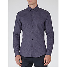 Buy Reiss Noir Melange Weave Shirt, Navy Online at johnlewis.com